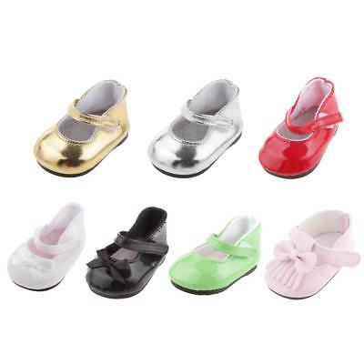 7 Pairs Cute Doll Shoes for 18inch American Girl Journey Doll Dress Up ACCS