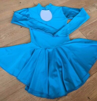 ice skating dress - turquoise - by Tappers and Pointers - size 3 (Ladies size 10