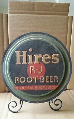 Old Original Embossed Tin Hires Root Beer Sign