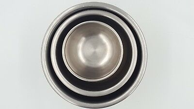 """Camper Tiny House STAINLESS STEEL Stacking MIXING BOWL 3.5""""-6.5"""" wide, 3.5"""" tall"""