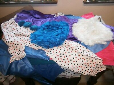 job-lot of fancy dress clothes made by a dress-maker; clown, china-man & more