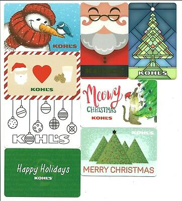 Lot of (8) Kohl's Christmas Holiday Snowman Gift Cards No $ Value Collectible