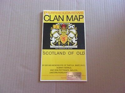 Bartholomews Clan Map - Scotland of Old - The Kingdom of the Scots