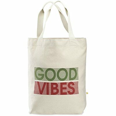 Life is good Messaging Tote Bag Vibes Natural One Size Reusable Eco Bags Travel