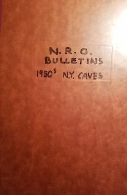 1950's Bound Ny Cave Cavern Booklets Nro Bulletins, Descriptions, Maps, Drawings