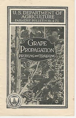 US Depart of Agriculture, Farmers' Bulletin No.471  Grape Propagation/ More 1924