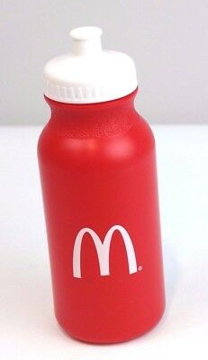 McDonalds Plastic Sports Water Bottle Red White Arches Advertising Promotion
