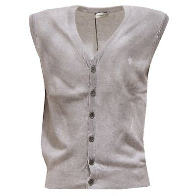 3570U gilet bimbo BALLANTYNE smanicato grigio grey sleeveless sweater boy