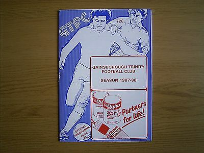GAINSBOROUGH TRINITY v MATLOCK TOWN FA Cup 1st Qual Round replay 1987-88
