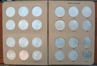 Complete Peace Silver  Dollar Set 1921-1935 ..  Ch/gem Bu