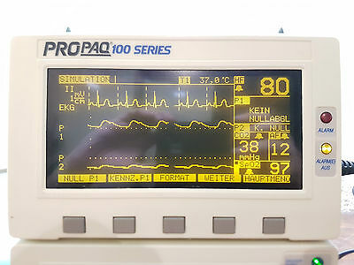 Welch Allyn Propaq 106EL Patientenmonitor EKG NIBP IBP SpO2 CO2 option neuwertig