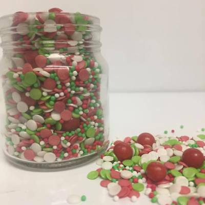 Merry & Bright Festive Mix cupcake / cake decoration sprinkles