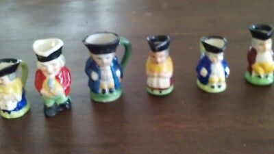 Minature Toby mugs set of 6 different characters
