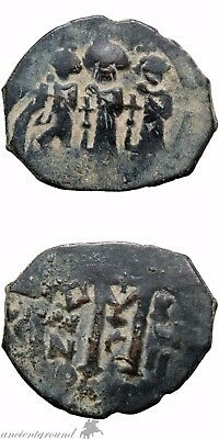 Byzantine Empire Heraclius Ae Follis Coin Year 17 , 610-641 Ad