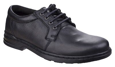 New Mens/Gents Black Hush Puppies George Hanston Casual Shoes