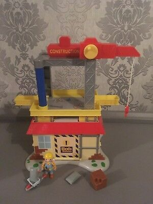 bob the builder deluxe construction tower 4 vehicles. Black Bedroom Furniture Sets. Home Design Ideas