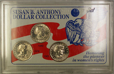 1979-1981 Susan B. Anthony $1 P & D SSCA Coin Collection