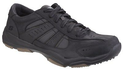 New Mens/Gents Black Skechers Larson Nerick Lace Ups Trainers
