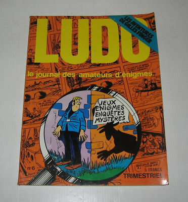 Ludo Detective N°6,tbe,sept.1974,moallic,crespi,gring,tabary,pif Gadget,vaillant