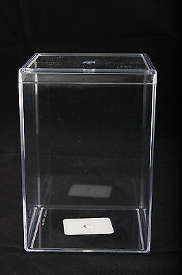 "** New **  Clear Plastic Acrylic Display Case (3"" x 3"" x 5"")"