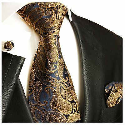 3bf767673a39b BRONZE PAISLEY SILK Tie, Pocket Square and Cufflinks by Paul Malone ...