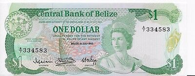 1983 Belize $1 Pick #43, Uncirculated