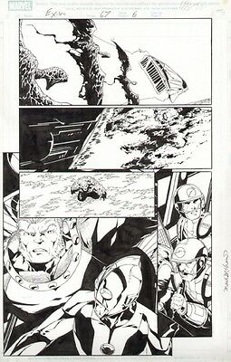 Exiles Original Art by Jim Calafiore Issue 67 Page 6
