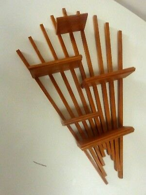 Etagere Presentoir Eventail Bois Design Scandinave Vintage Danish