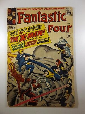 """Fantastic Four #28 """"We Have to Fight The X-Men!"""" Good Condition!"""