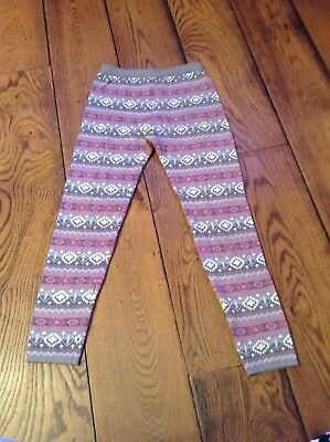 Girls Pink And Grey Leggings Age 11/12