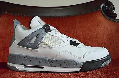 NDS Nike Air Jordan Retro 4 IV 2012 Release White Cement Grey Size 7 Y