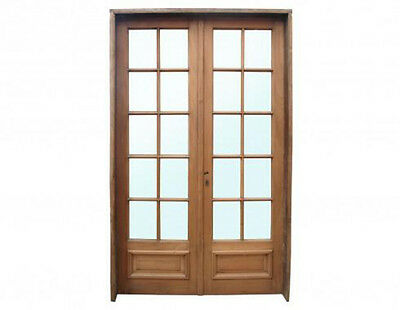 Antique Double French Patio Door Glass Installed #C1362