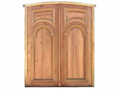Arched Double Solid Front Door Panels #D1173