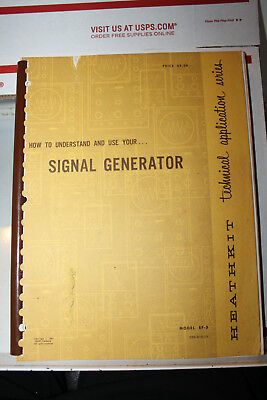 Vintage Heathkit Manual 1963 Signal Generator Model EF-3 Rare