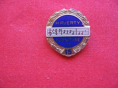 15 Year Haverty Furniture Co. Service Pin 1/10 10K