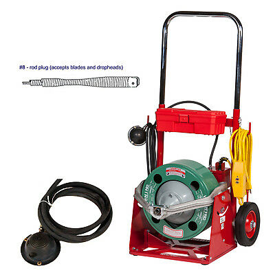 """Spartan Tool 100 Drain Cleaner with 13/32"""" Drum and Inner Core No. 8 Cable"""