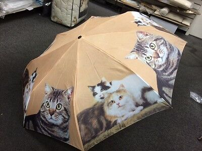 Cats Cat Kitten Lover Compact Folding Pocket Umbrella & Tote Bag FREE PRIORITY!!