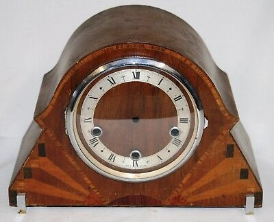 Antique Art Deco Empty Clock Case for Westminster Chiming Movement + Glass