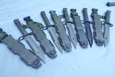 GI  Authentic Lan-Cay M9-US-Military Combat Knife-w/Scabbard Wire Cutter F167
