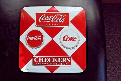 Coca Cola Checkers Collection Edition - Metal Tin Set