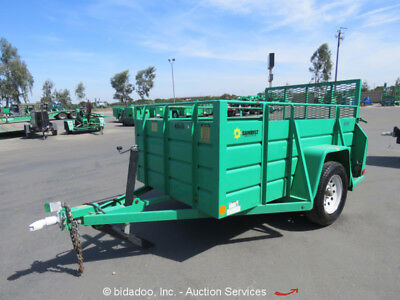 2012 Best Trailer 5X8US 8' Tow Behind Utility Cargo Trailer Fold Up Ramp