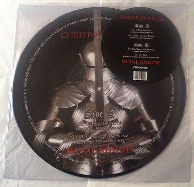 "CHRISTOPHER LEE Metal Knight EP 10"" Vinyl PICTURE DISC Record Store Day 2017 RSD"