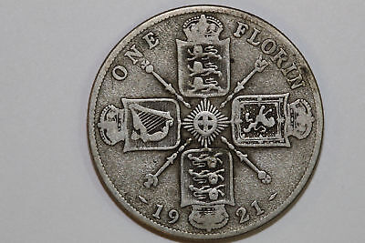 Very Fine 1912 Great Britain Florin or Two Shillings Silver Coin KM #817 (GB283)