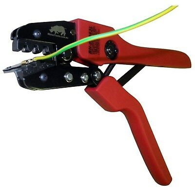 Open Barrel Terminal Crimper with 6.3mm Locator     Ratchet Cable Crimping Tool