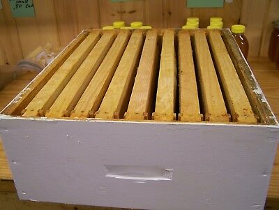 1 Langstroth Bee Hive 10 Frame Medium extracting super with 9 drawn frames box1