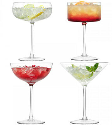 NEW LSA Lulu Assorted Cocktail and Champagne Glasses set of 4
