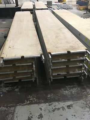 "Scaffolding - Aluminum/Plywood Deck -10' L x 19""W Scaffold Deck 32 Available"