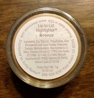 NEW Sheer Cover Lip-to-Lid HIGHLIGHTER BRONZE ~ Size 1g ~ SEALED!