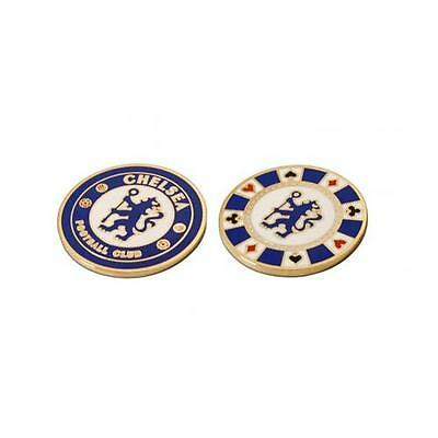Chelsea Casino Chip Ball Marker Golf Fan New Official Licensed Football Product