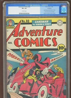 Adventure Comics 80 CGC 8.5 VF+ | DC 1942 | Kirby & ROCKFORD PEDIGREE w COA